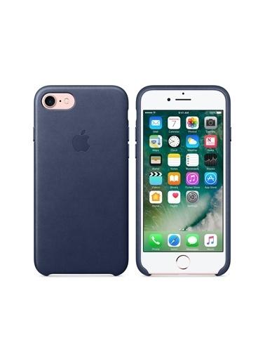 Apple Iphone 7/8 / Iphone Se 2020 Orjinal Midnight Blue Deri Kılıf Renkli